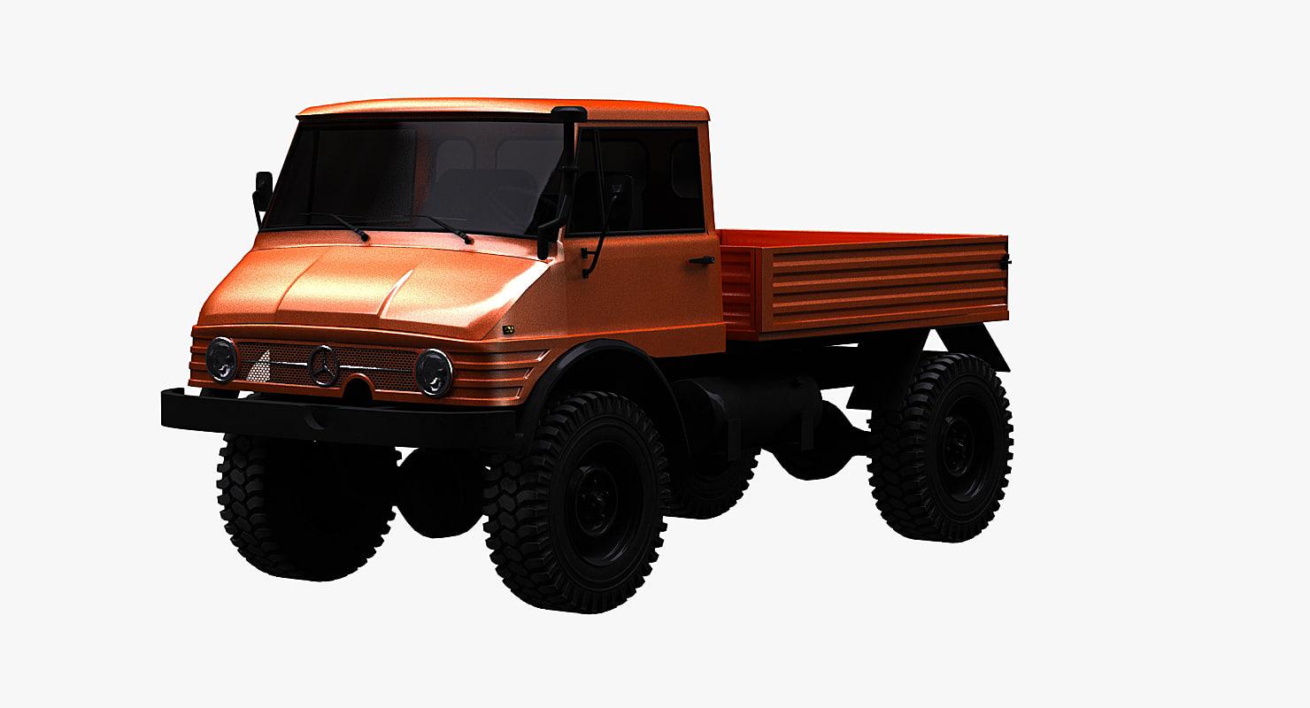 unimog 406 3d model