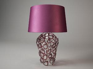 davos crystal vase gl70 3d model