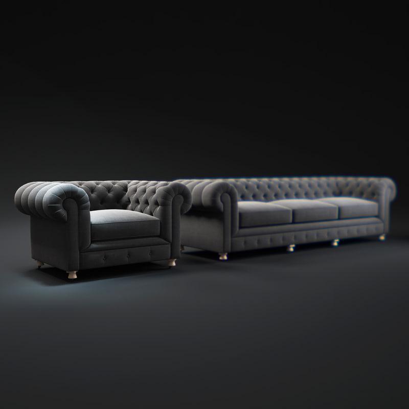 Model Kensington Upholstered Sofa ~ Kensington Upholstered Sofa