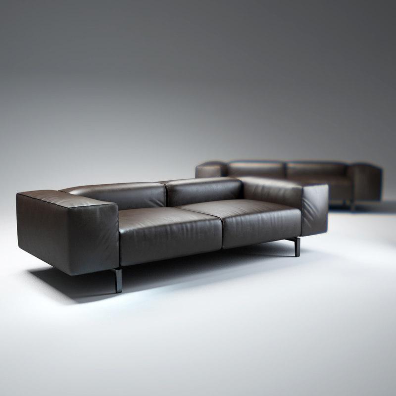 scighera-sofa 3d obj