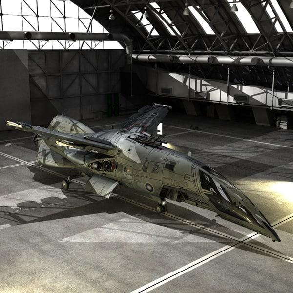 hornet aerospace fighter space 3d model