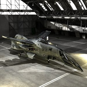 hornet aerospace fighter space 3d model
