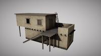 3d desert houses model