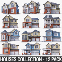 Cottage Houses - 12 Pack