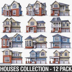 cottage house exterior 3d obj