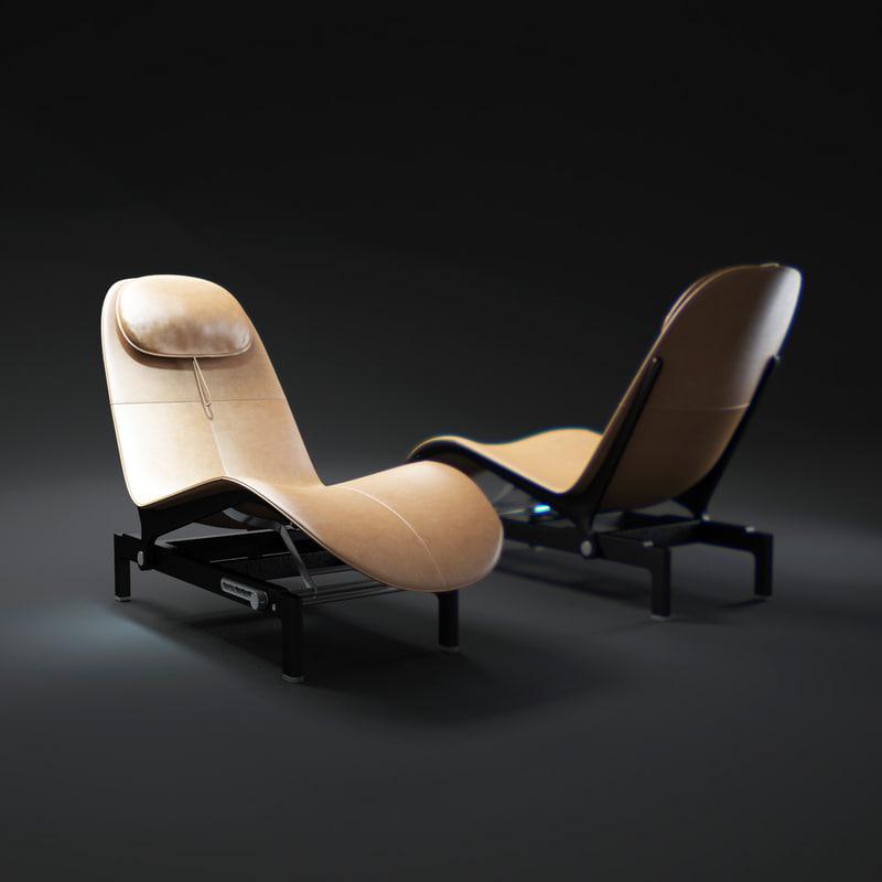 3d ela-lounge-chair