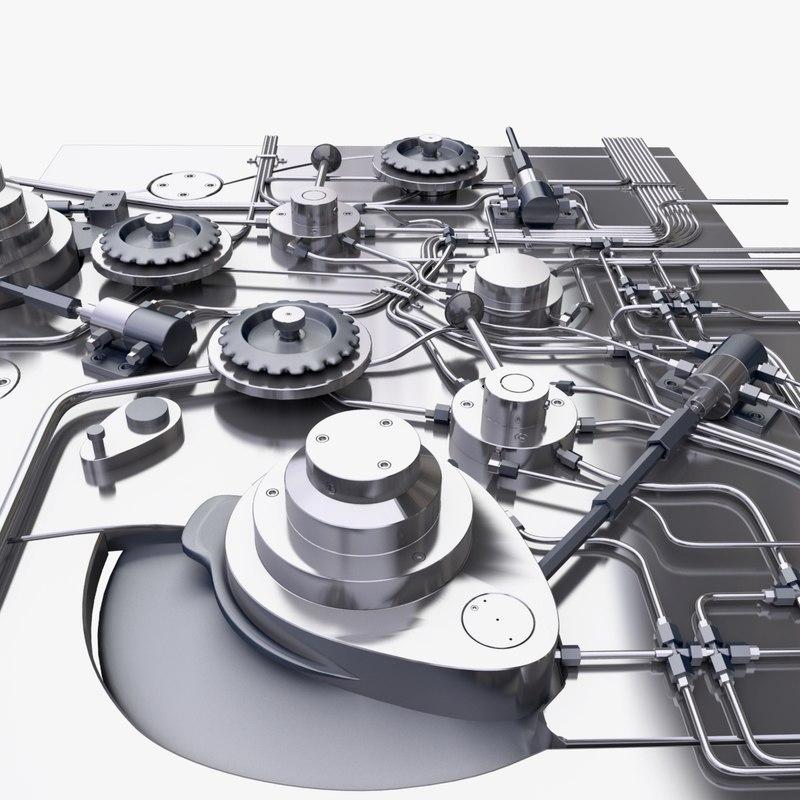 industrial mechanism 3d max