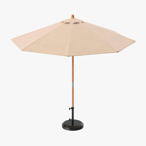opened patio umbrella 3d model