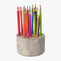wood stump pencil holder max