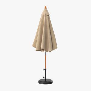 closed umbrella 3d c4d