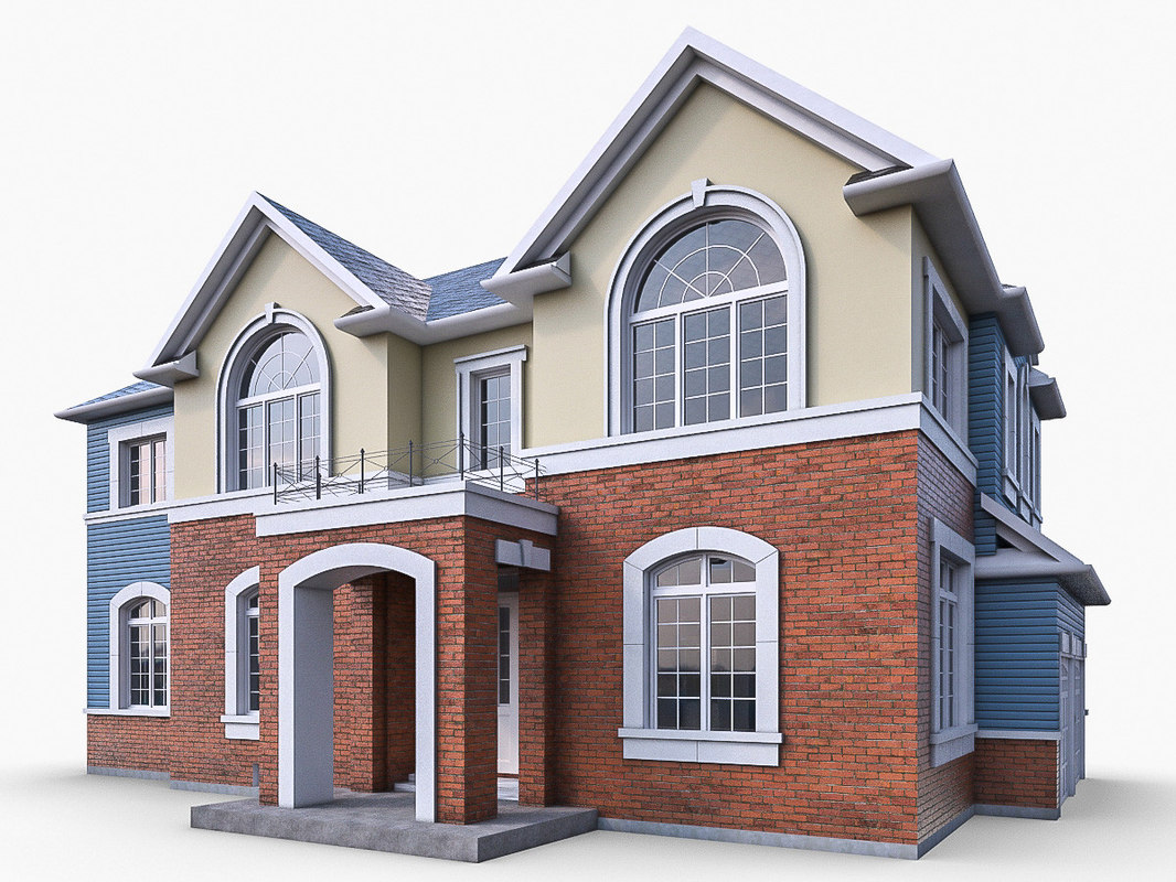ms12 cottage houses obj