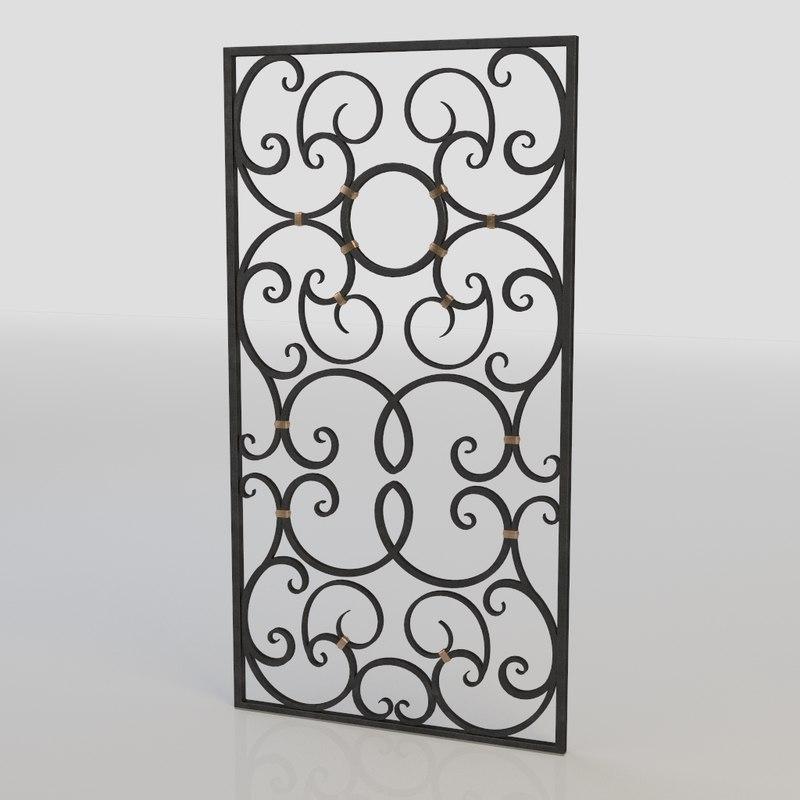 windows bars 3d model