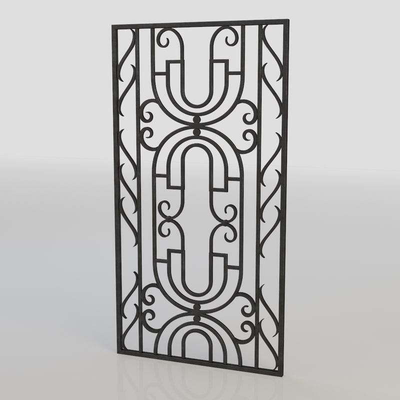 3d windows bars model