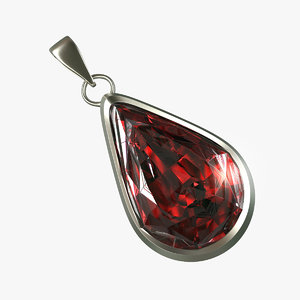 obj red diamond