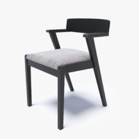 Zola Coral Gray and Ebony Dining Chair