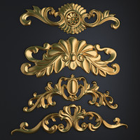 3d model of carved elements-88