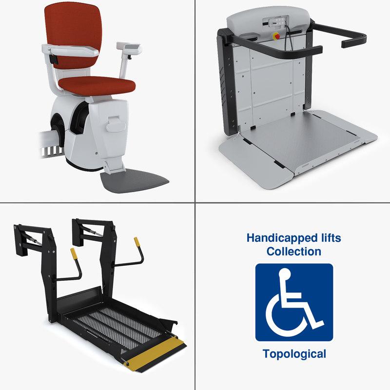 handicapped lifts 3d model