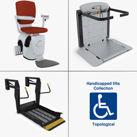 handicapped lifts 3d model