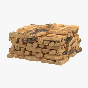 3d model of large firewood stack