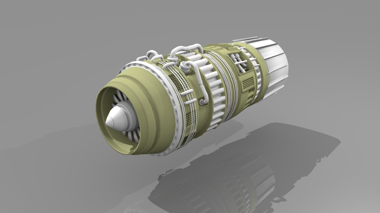 3d model turbine engine