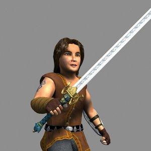 3d model rigged sword