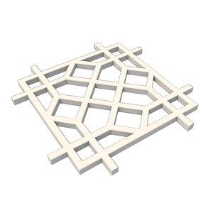 islamic lattice obj free