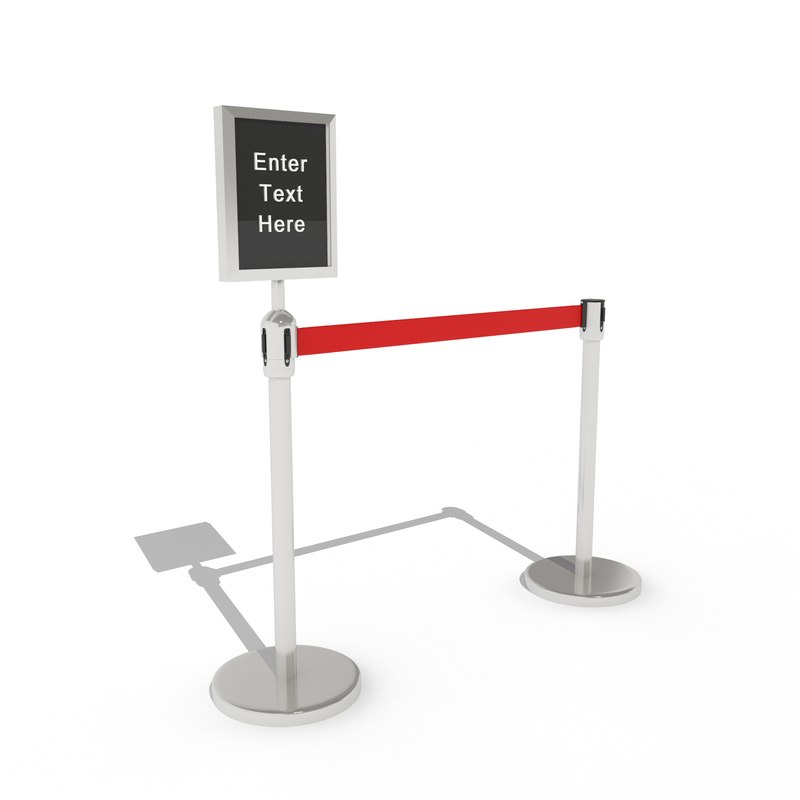 security stanchion divider max