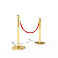stanchion divider v3 gold 3d 3ds