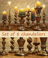 Set of 8 chandeliers