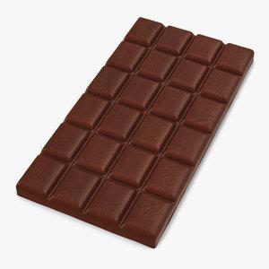 chocolate bar 2 3d model