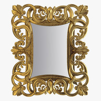 3d carved mirror