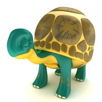 3d old turtle tortoise model