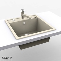 3d model of sink dalago 45