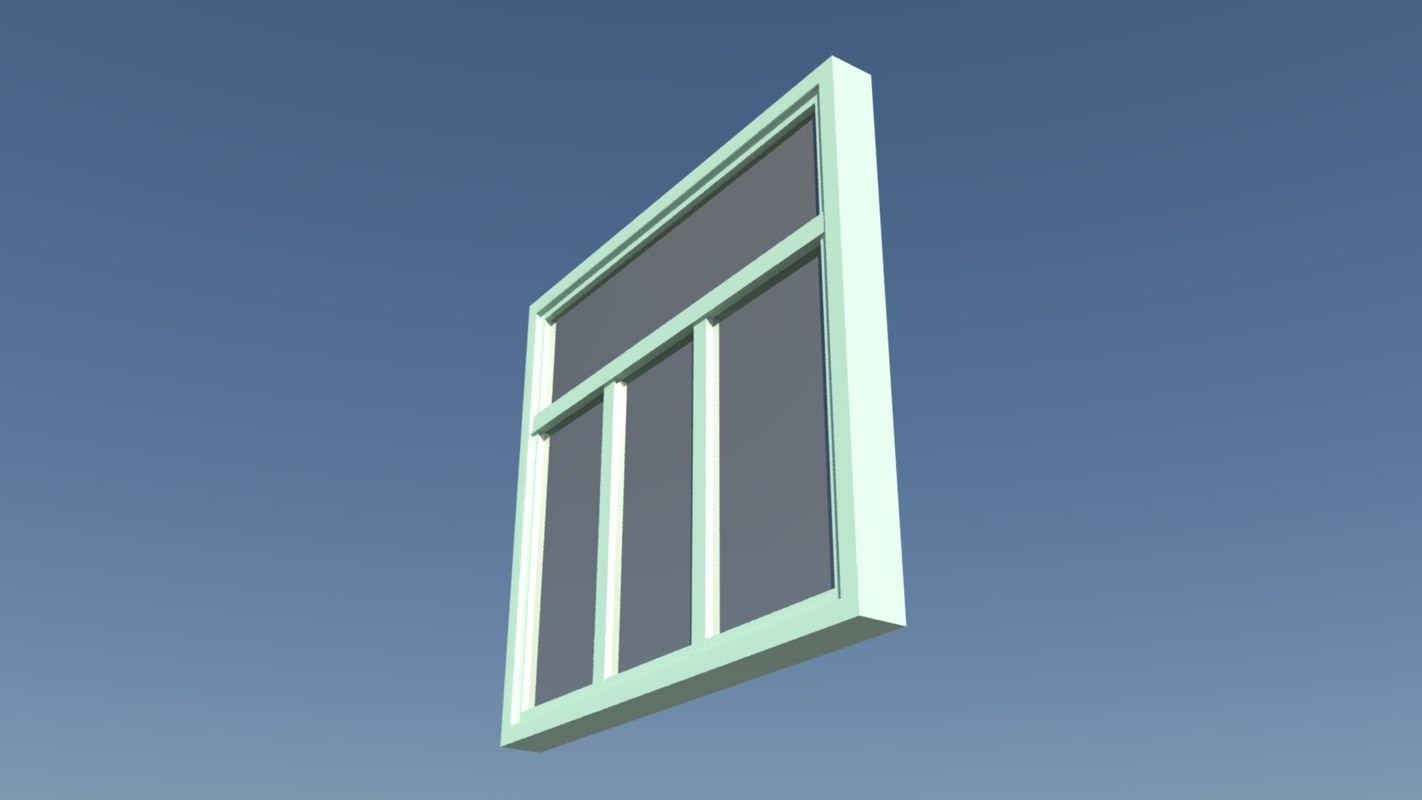 3d house window model