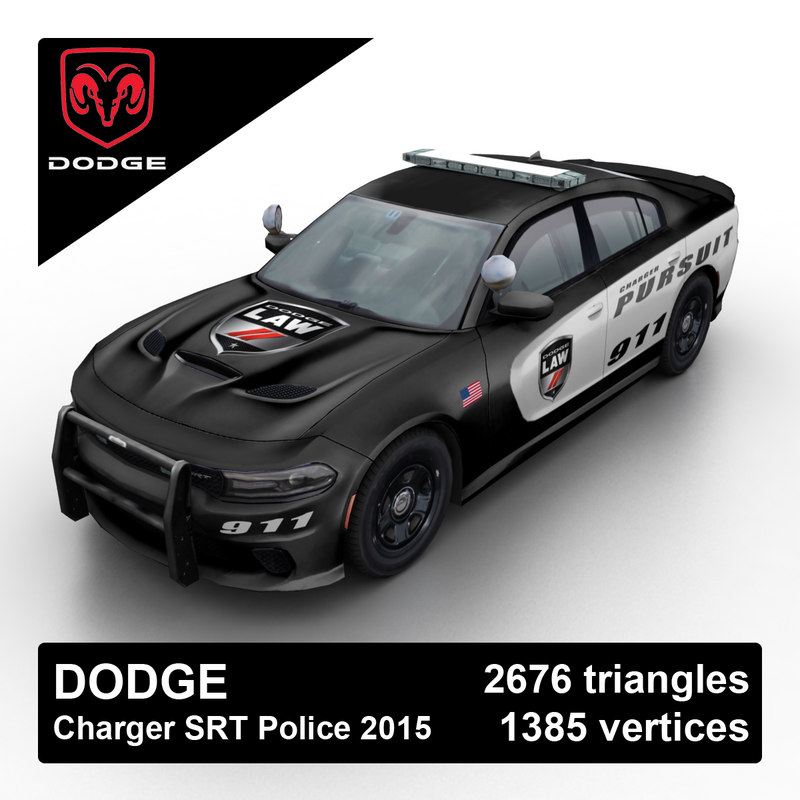 3d model 2015 dodge charger srt