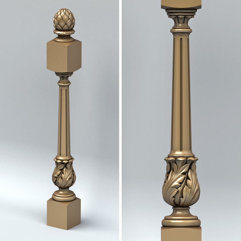 newel post 3d model