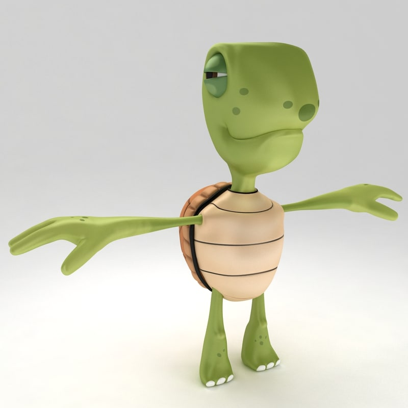 young turtle tortoise 3d max