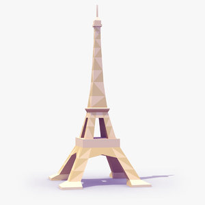 3d model eiffel tower style