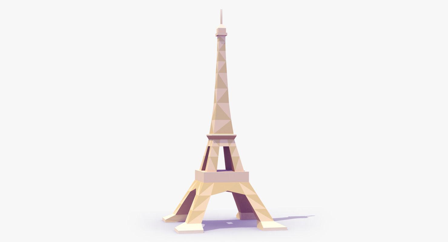 3d model eiffel tower style