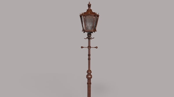3d decorative street lamp light model