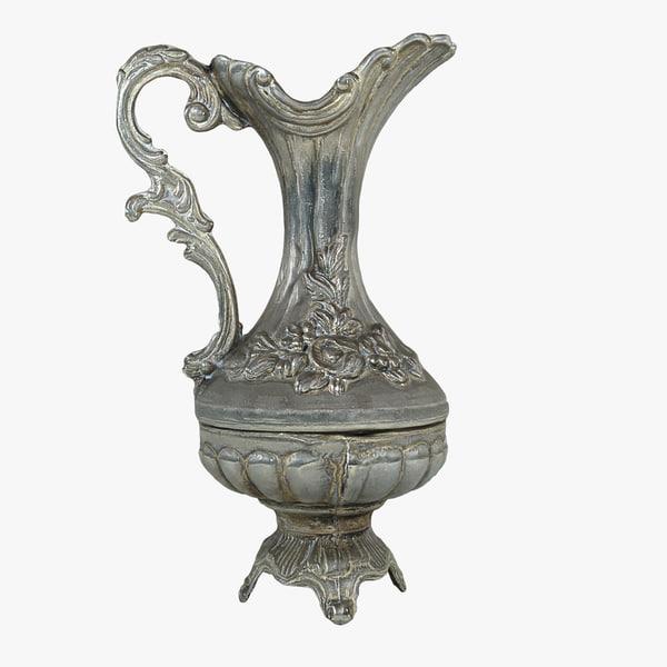 3d silverware silver model