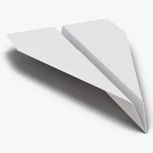 paper plane 3 3d model