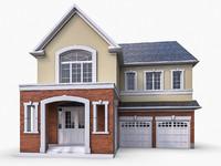 3d ms12 cottage houses