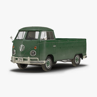 volkswagen type 2 single 3d model