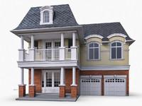 ms12 cottage houses 3d obj