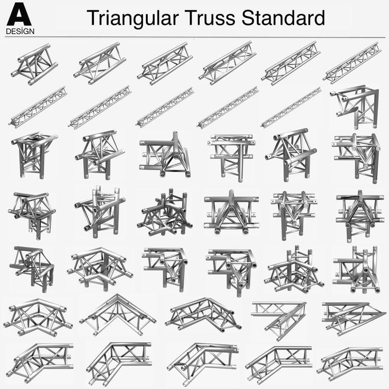 Triangular Truss Standard 41 3d Model