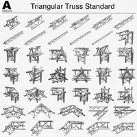 triangular truss 008 3d 3ds