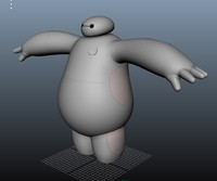 3d model baymax character 6