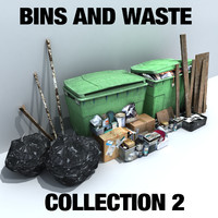 bins waste 3d 3ds