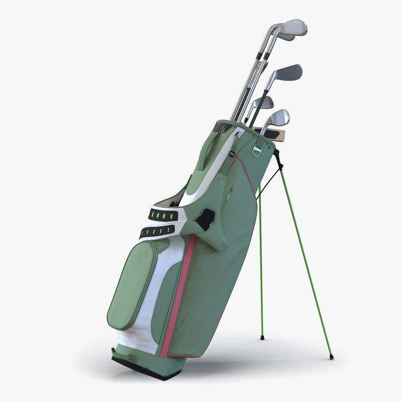 3d model golf bag 4 generic